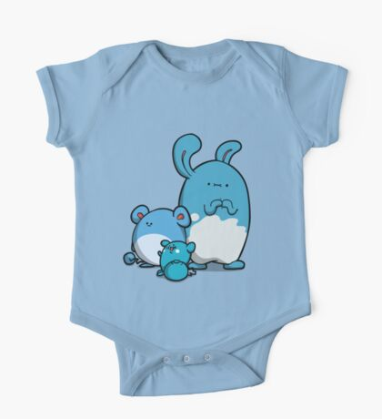 Water Mice One Piece - Short Sleeve