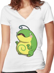 Chubby Toad Women's Fitted V-Neck T-Shirt