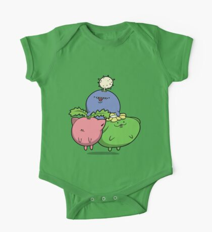 Little Puffballs One Piece - Short Sleeve