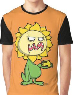 Grumpy Sunflower Graphic T-Shirt