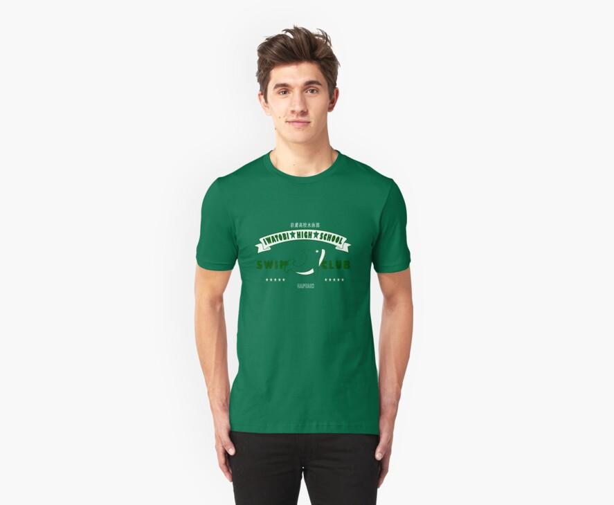 Free! Iwatobi Swim Club Shirt (Makoto, Captain) green by renotology