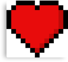 8-Bit Heart Canvas Print