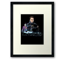 Retro bat Framed Print