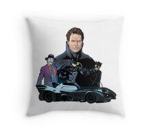 Retro bat Throw Pillow