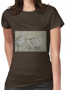 Plum Blossom in Spring Womens Fitted T-Shirt
