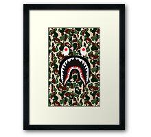 bape shark army Framed Print