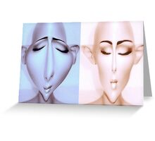 Alien mannequins Greeting Card