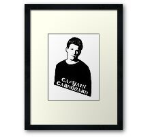 RILEY FINN: Captain Cardboard Framed Print
