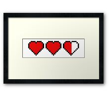 Two and a Half 8-Bit Hearts Framed Print