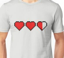 Two and a Half 8-Bit Hearts Unisex T-Shirt