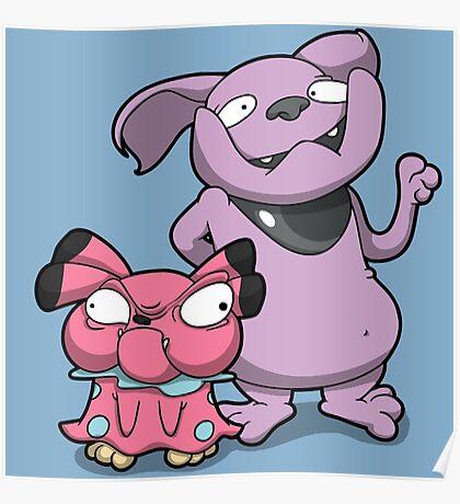 Cutey Bulldogs Poster