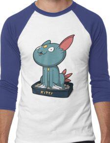 Cutey Kitty Men's Baseball ¾ T-Shirt