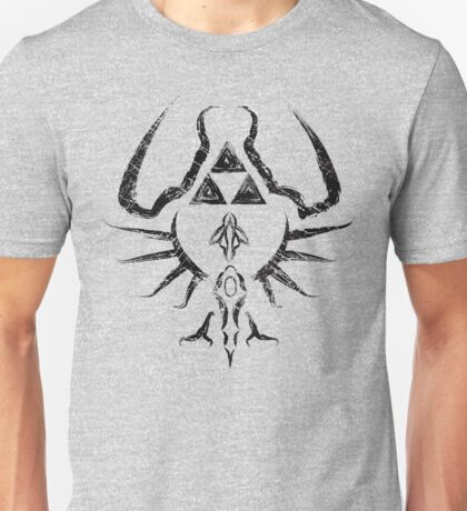 Zelda Trigram Shield - Black Edition Unisex T-Shirt