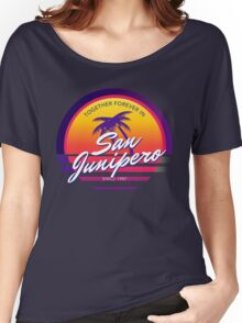 San Junipero Black Mirror Together Forever Women's Relaxed Fit T-Shirt