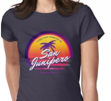 San Junipero Black Mirror Together Forever Womens Fitted T-Shirt