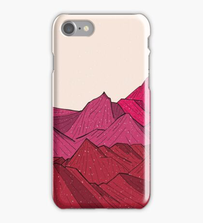 The falling snow and the mountains iPhone Case/Skin