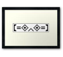 8-Bit Worlds Kaomoji (Porter Robinson) Framed Print