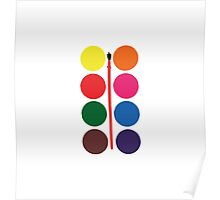 Watercolour Palette Poster