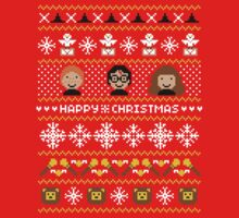 Magical Ugly Christmas Sweater + Card   Women's T-Shirt