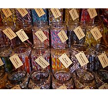 Candy Canes By The Jar Photographic Print
