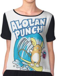 Raichu Alola Pokémon Sol y Luna Chiffon Top