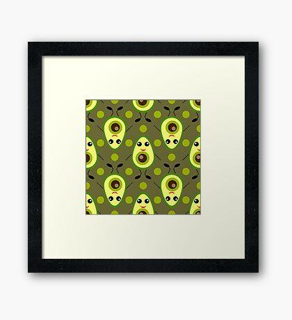 Cute Avocado Framed Print