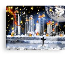 City Of The Dead...when worlds collide Canvas Print