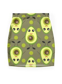 Cute Avocado Mini Skirt