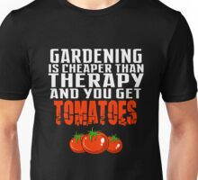 Gardening Therapy Tomatoes Gear Flower Farmer Gift Shirt Unisex T-Shirt