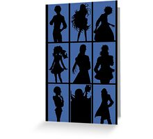 Tales of Xillia 2 - Character Roster (Blue) Greeting Card