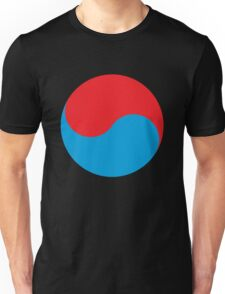 Duality in red and blue Unisex T-Shirt