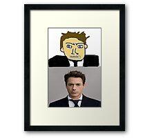 Robert Downey MSPaint Framed Print
