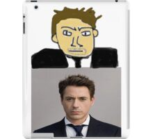 Robert Downey MSPaint iPad Case/Skin