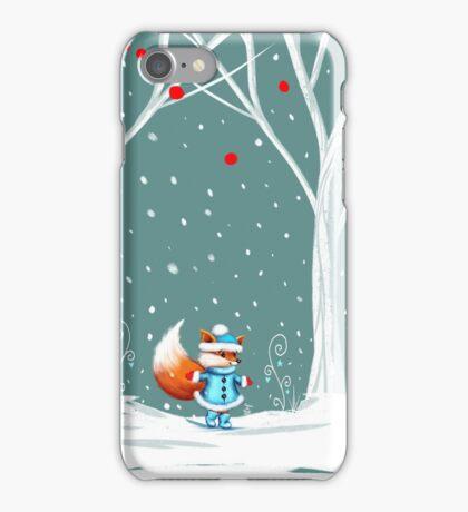 Little Miss Winter Fox in the Snow iPhone Case/Skin