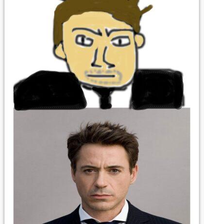 Robert Downey MSPaint Sticker