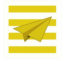 Paper Airplane 40 Art Print