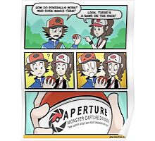 Aperture Pokeballs Poster