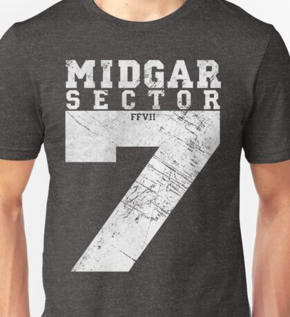 Midgar Sector 7 - Silver Edition Unisex T-Shirt