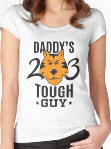 Daddy's Tough Guy - Tiger - Kid's Sports Football Baseball Backetball  Women's Fitted Scoop T-Shirt
