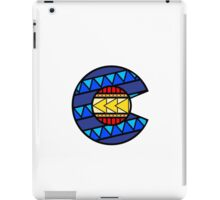 Colorado Tribal Flag: True Colour iPad Case/Skin