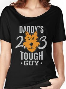 Daddy's Tough Guy - Tiger - Kid's Sports Football Baseball Backetball 2 Women's Relaxed Fit T-Shirt