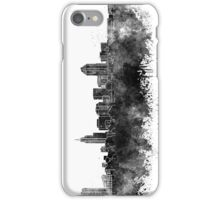 Raleigh skyline in black watercolor iPhone Case/Skin
