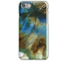 Blue, green and brown abstract iPhone Case/Skin
