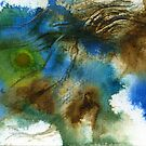 Blue, green and brown abstract by Simon Rudd