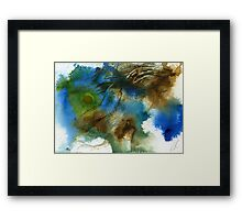Blue, green and brown abstract Framed Print