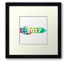arrow direction new year's day new year's eve year Framed Print