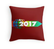 arrow direction new year's day new year's eve year Throw Pillow