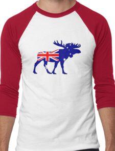 Australian Flag - Moose Men's Baseball ¾ T-Shirt