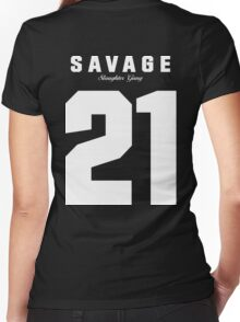 21 Savage Jersey Women's Fitted V-Neck T-Shirt
