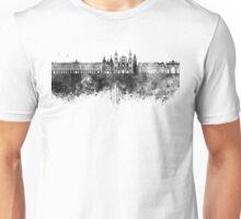 Nancy skyline in black watercolor Unisex T-Shirt